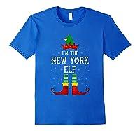 I\\\'m The New York Elf Family Group Christmas T-shirt Royal Blue