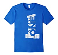 We Are 1 One Baha'i Faith Vintage Style Baha'i Shirts Royal Blue
