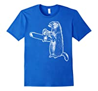 Funny Woodchuck Groundhog Day Could Chainsaw Wood Shirts Royal Blue