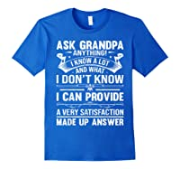 Ask Grandpa Anything Fathers Day Funny Gift T-shirt Royal Blue
