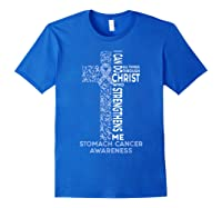 Stomach Cancer Awareness - I Can Do All Things T-shirt Royal Blue