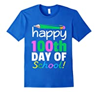 100th Day Of School Grade Tea Shirts Royal Blue