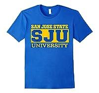 San Jose State 1887 University Apparel Shirts Royal Blue