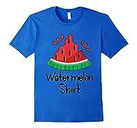 Watermelon Shirt - Cute Fun Of Summer Watermelon T-shirt Royal Blue