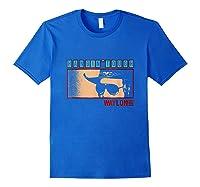 Waylon Jennings Hangin Tough Merchandise Shirts Royal Blue