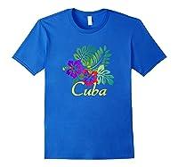 Cuba Beach Tropical Travel Surf Gift Shirts Royal Blue