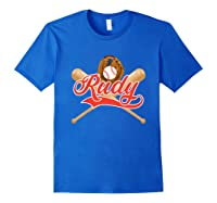 Baseball Player Rudy Birthday Boy T-shirt \\\'s Name Royal Blue