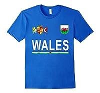 Wales Cheer 2017 Football Welsh Shirts Royal Blue