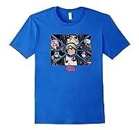 Naruto Shippuden Group Panels Shirts Royal Blue