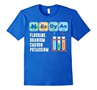 Nerdy As F | Funny Chemistry Science Tea Student T Shirt Royal Blue