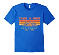 New York Vintage Take A Hike Old Forge Moutain T-shirt Royal Blue