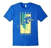 Nintendo Metroid Samus Returns Spotlight Graphic T-shirt Royal Blue