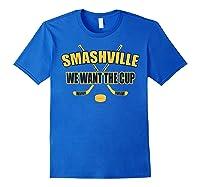 Smashville Nashville Proud Hockey Shirts Royal Blue