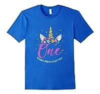1 Year Old Birthday Girl Gifts Unicorn 1st Birthday Shirts Royal Blue