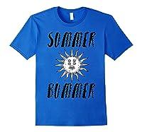 Summer Bummer Seapunk Shirts Royal Blue