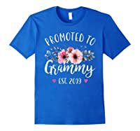 Promoted To Grammy Est 2019 Baby Announce Shirts Royal Blue