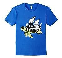 ' Acts Can Transform The World' Environ Shirts Royal Blue
