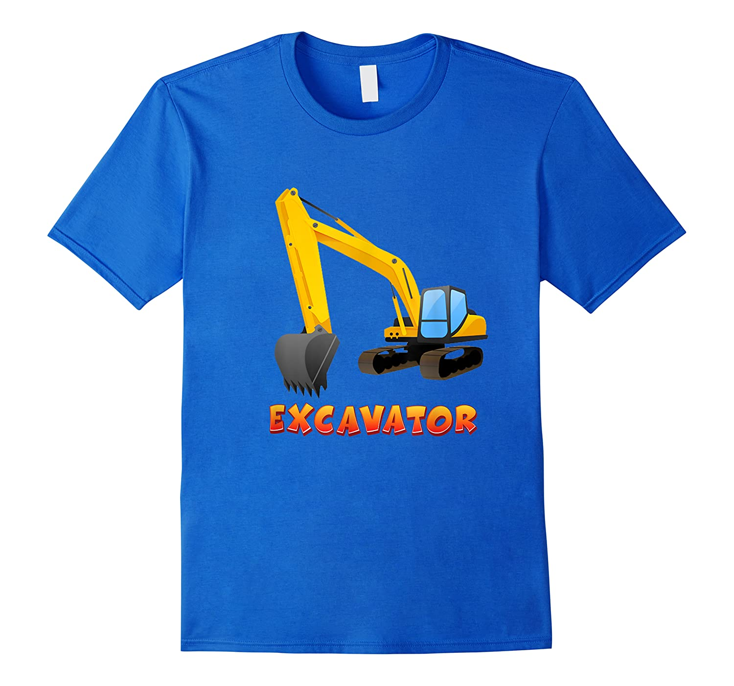 \\\' Excavator Digger T-shirt For S