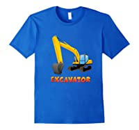 \\\' Excavator Digger T-shirt For S Royal Blue