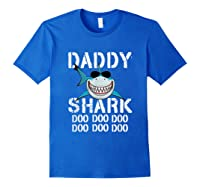 Daddy Shark Doo Doo Family Matching Shirts Royal Blue