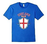 England Soccer English Flag Football Gift Shirts Royal Blue