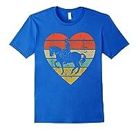 Dressage Vintage Design Retro Horseback Riding Heart Sport Shirts Royal Blue