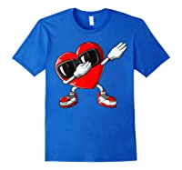 Dabbing Heart Valentines Day Love Dab Dance Gifts T-shirt Royal Blue
