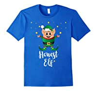 Honest Elf Xmas Elves Matching Family Group Christmas T-shirt Royal Blue
