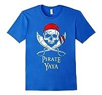 Pirate Yaya Skull And Crossbones Flag T-shirt Royal Blue