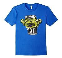 Garbage Monster Funny Gift Halloween Shirts Royal Blue