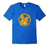 Star Twisted Mockingjay Logo Twisted Musical Shirts Royal Blue
