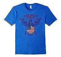 America First Trump 2020 New Shirts Royal Blue