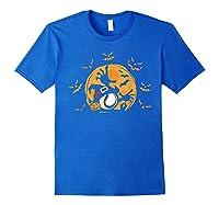 Baseball Pumpkin Witch Hat Funny Halloween Costume Shirts Royal Blue