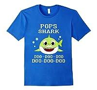 Pops Shark Doo Doo Doo Matching Family Shark Shirts Royal Blue