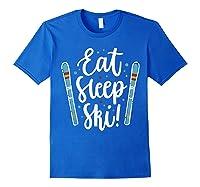 Live Eat Sleep Ski Shirts Royal Blue