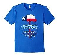 Texas Grown With British Roots Britain Shirts Royal Blue