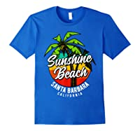 California Hawaii Surf Surfing Board Beach Vintage Retro Shirts Royal Blue