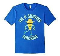 Roller Skating Robot For And Girls Shirts Royal Blue
