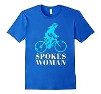 Spokes Woman Cycling Shirts Royal Blue