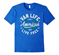 Van Dweller Clothing & Van Life Apparel - Van Life Premium T-shirt Royal Blue