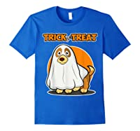 Dog Ghost Halloween Party Trick For Treat Shirts Royal Blue
