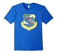 Strategic Air Command Sac Cold War Grunge T-shirt Royal Blue