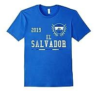 El Salvador Football 2019 Salvadorean Soccer T-shirt Royal Blue