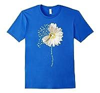 Lung Cancer Awareness Sunflower Ribbon Gift Shirts Royal Blue