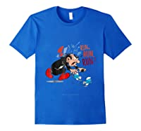 The Smurfs Run Run Run Shirts Royal Blue