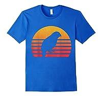 Vintage Retro Sunset Kakapo T-shirt Royal Blue