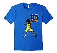 Basketball Birthday T-shirt 97 Funny Dabbing Shirt Dab Royal Blue