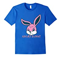 Angry Bunny Rabbit Lovers Cute Bunnies Happy Easter Day Gift Shirts Royal Blue