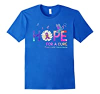 Hope For A Cure Pancreatic Cancer Butterfly Flower Shirts Royal Blue