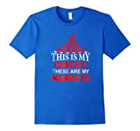 This Is My Circus These Are My Monkeys T Shirt, Family Fun Royal Blue